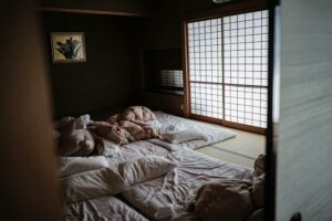 Futon in a japanese style room
